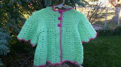 Hooded Coat - Size 12 mos by LittleLuvCrochet on Etsy