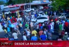 Paralizan Transito Navarrete-Puerto Plata En Protesta Sobre La Construcción De Carriles #Video