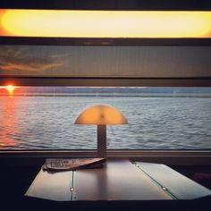 #sunset #sea #train