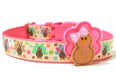Thanksgiving Dog Collar 1 Fall Dog Collar by Wagologie on Etsy Dog Holidays, Ship Dog, Puppies Tips, Custom Dog Collars, Large Dog Breeds, Colorful Feathers, Scottie, Betty Boop, Baby Shoes