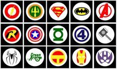 superheros PRINTABLE LOGOS for personal use. Perfect for superhero birthday parties