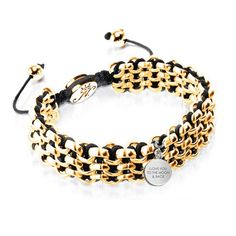 Kismet Links Bracelet with Charm & Engraving