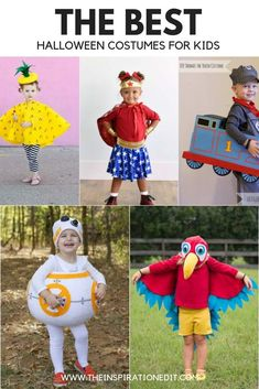 These DIY Halloween Costumes are simply adorable. Each costume has a tutorial you can follow and you'll have a fantastic Halloween fancy dress costume for your little one in no time. #halloweencostumes #halloweencostumeskids #fancydressideas #toddler #diyhalloween