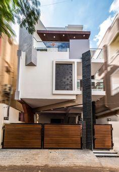 3d Architecture, Vernacular Architecture, Building Elevation, House Elevation, Duplex House Design, Small House Design, Modern Villa Design, Garden Wall Art, Contemporary Building