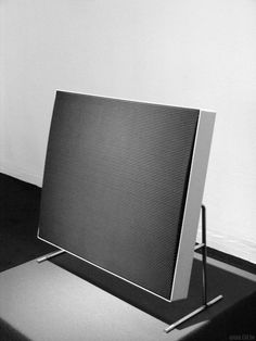 Braun Electrostat Flat Speaker Design By Dieter Rams