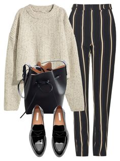 """Untitled #7156"" by laurenmboot ❤ liked on Polyvore featuring Topshop, H&M and Mansur Gavriel"
