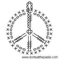 Peace Symbol Crocheted Earring Pattern