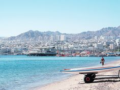 Eilat, Israel - Public Spaces, beach at the Red Sea (אילת, ישראל) #travel #Israel #Eilat