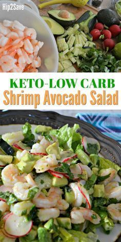 Try this Keto Shrimp and Avocado salad with homemade lime dressing for a healthy and low carb lunch idea!