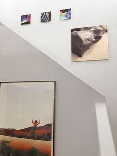 An installation of my aluminum prints in a stairwell