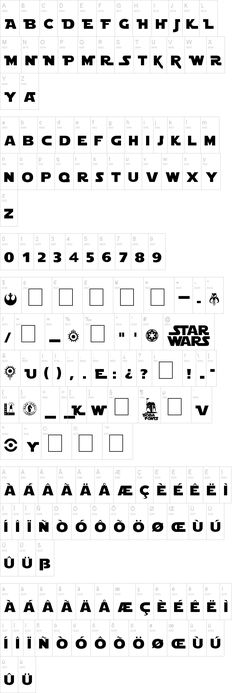 """Star Jedi"" font. Star Wars. Get Star Tours/Wars scrapbooking ideas at http://mousescrappers.com/forums/showthread.php?t=4038"