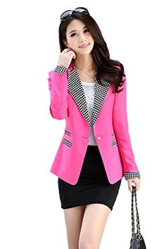 Esther Cullum Women's One Button Long Sleeve Short Suit Blazer Outwear Zacoo http://smile.amazon.com/dp/B0155WVFYW/ref=cm_sw_r_pi_dp_VYkuwb1E5FMVT