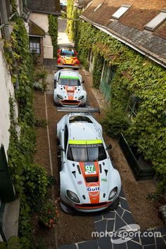 Aston Martin Racing at the Hotel de France at Aston Martin headquarters throwback