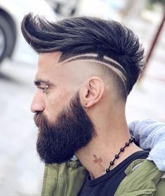 Mens Haircuts Short Hair, Short Hair With Beard, Cool Hairstyles For Men, Boy Hairstyles, Long Beard Styles, Best Beard Styles, Hair And Beard Styles, Hair Styles, Hair Tattoo Men