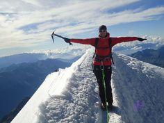 Martina climbing the Piz Palü Glacier