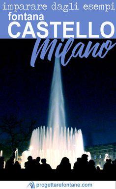 """La fontana """"Torta degli sposi"""" in Piazza Castello a Milano: monumento e spettacolo d'acqua _ Imparare dagli esempi - progettarefontane.it"""