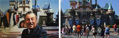 IlPost - Walt Disney a Disneyland, ad Anaheim in California, davanti al castello della Bella Addormentata. La foto fu scattata tra il 1955 e il 1966, anno della morte di Disney. (ImagineeringDisney.com) - Walt Disney a Disneyland, ad Anaheim in California, davanti al castello della Bella Addormentata. La foto fu scattata tra il 1955 e il 1966, anno della morte di Disney. (ImagineeringDisney.com)