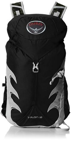 Osprey Packs Talon 18 Backpack Onyx Black MediumLarge * More info could be found at the image url. Men's Backpack, Hiking Backpack, Osprey Packs, Backpack Reviews, Outdoor Backpacks, Camping And Hiking, Stuff To Buy, Bags