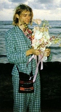 Kurt and Courtney's wedding day. He's so awesome for going in his pj's :)