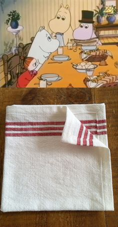 Red Striped Cotton Bread Basket Napkins