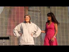 Laura gets pulled up on to the main stage in Hyde Park London Nina Conti, Live At The Apollo, Hyde Park London, Puppet, Comedians, Minimal, Humor, Youtube, Humour