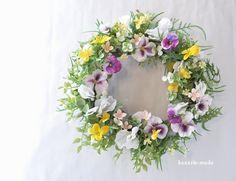 ハンドメイドマーケット minne(ミンネ)| romantic violets :wreath