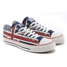 7ca98a62fb05 Converse Shoes Red Union Jack British Flag Classic Low