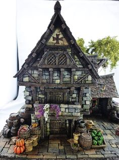 Converted Building by Simone Pohlenz Hirst Arts, Game Terrain, Medieval Houses, Painting Competition, Wargaming Terrain, Tiny World, Fantasy Miniatures, Medieval Fantasy, Model Homes