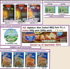 Aldi Slimming World Syn Values, Slimming World Free, Slimming World Dinners, Slimming World Recipes, Aldi Syns, Katsu Curry Recipes, Healthy Treats, Healthy Eating, Syn Free Food