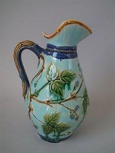 Minton Majolica blackberry pitcher