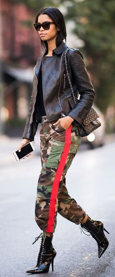 82ebb859d6 Cool camo pants with side stripes #camo #cool #coolgirl #fashion Army Pants