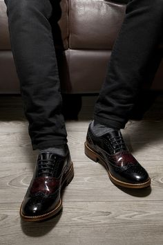 17a78df453c8 black   red krelly part of the mens ted baker shoes range at schuh.
