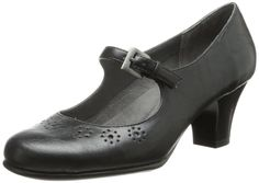 11e18f81f289 Aerosoles Women s Caricature Pump Round-toe pump featuring flower  perforations and buckled Mary Jane strap Contoured