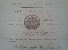 Liberté, égalité, fraternité ou la mort. Phyrgien surmontant le faisceau. #Revolution #FrenchRevolution #oldpapers #entete #archives