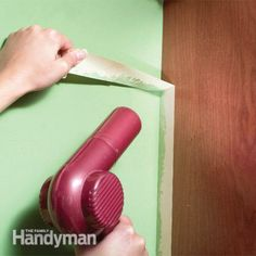 Soften adhesive with heat - If masking tape tears as you remove it or pulls off flakes of finish, heat it with a hair dryer. Heat softens the adhesive. Then pull the tape off at a 90-degree angle.