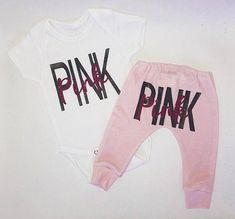 Pink baby outfit / baby girl clothes / newborn girl clothes / newborn girl outfit / baby girl gift / baby outfit / pink baby joggers / baby Pink baby outfit Onesies are from newborn to T-shirts from comes with onesie and pant Sizing : Preemie Baby Outfits, Newborn Girl Outfits, Baby Girl Newborn, Toddler Outfits, Kids Outfits, Baby Girl Pants, Baby Girl Shirts, Shirts For Girls, Baby Jogger