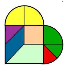 construir tangram corazon