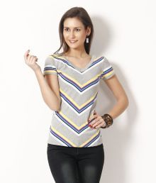 Madame Grey Cotton Solid Top