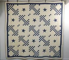 "Signed Museum Quality 1880's Unique ""Cubed Lattice w Star"" Antique Quilt 12 SPI 