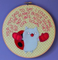 Catbug Hoop by loveandasandwich on Etsy, $56.00