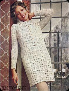 No.104 Vintage Crochet Pattern PDF Women's Spider by TickTockKnits, $3.85