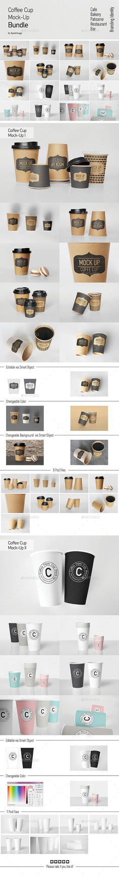 Coffee Cup MockUp Bundle — Photoshop PSD #realism #cup • Available here → https://graphicriver.net/item/coffee-cup-mockup-bundle/13374319?ref=pxcr