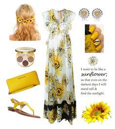 """Sunflower"" by keila-87 on Polyvore featuring moda, N°21, Michael Kors, MICHAEL Michael Kors, Collette Z e tarte"