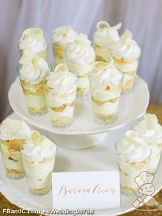 Design W 0678B | Deconstructed Banana Cream Pie Shooters | Custom Quote | Courtesy of Jasmine Lee Photography