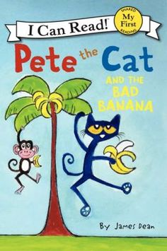 In this hilarious new title, Pete the Cat bites into a bad banana and decides that he never, ever wants to eat bananas again.