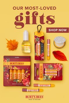 Give a little joy this holiday season, to yourself and others. Shop the most popular Burt's Bees holiday gifts—including lip balm, face care, limited edition gift sets and more. Need some holiday gift ideas? PopGrip Lips by PopSockets x Burt's Bees Beeswax Balm phone grips make a great gift for the tech lover in your life. Our Kissable Color gift set with our tingly Lip Shimmers are perfect for the beauty buff on your list. Shopping for someone who could use a little pampering? Our Truly… Retro Christmas Decorations, Teen Christmas Gifts, Holiday Gifts, All Gifts, Christmas Birthday, Birthday Party Decorations, Christmas Crafts, Great Gifts, Burts Bees