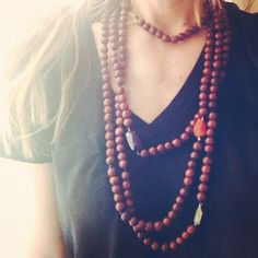 pretty nashelle wooden bead necklace