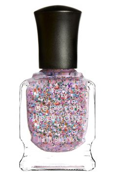 Deborah Lippmann nail color in 'Candy Shop'. Because there is no such thing as too much pink or too many sparkles.