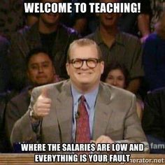 Teaching where the salaries are low