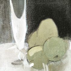Helene Schjerfbeck, Green Apples and Champagne Glass Oil on canvas, x 33 cm, Finnish National Gallery, Helsinki Helene Schjerfbeck, Painting Still Life, Paintings I Love, Helsinki, Female Painters, Still Life Fruit, Art Abstrait, Art Graphique, Abstract Images
